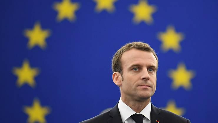 Viele Franzosen befürworten die Europäische Union und unterstützen demnach den Kurs des französischen Präsidenten Emmanuel Macron. (Archivbild)