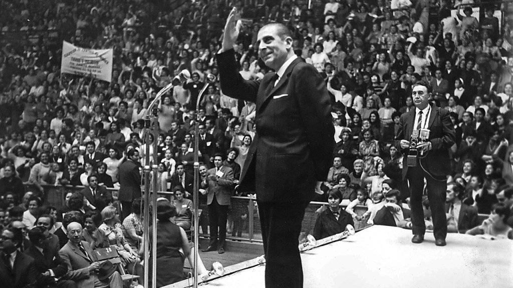 Galt bei seinem Tod 1982 als wichtige Oppositionsfigur gegen Diktator Augusto Pinochet: Chiles Ex-Präsident Eduardo Frei. (Archivbild)