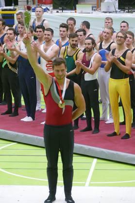 Sieger K-Herren an den Schweizer Meisterschaften Geräteturnen Turner Einzel/Mannschaft 2019 in Yverdon-les-Bains
