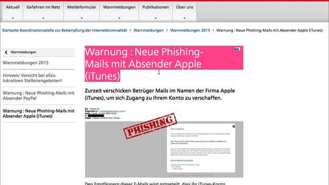 Gefähliche Pseudo-Apple-Mail im Umlauf