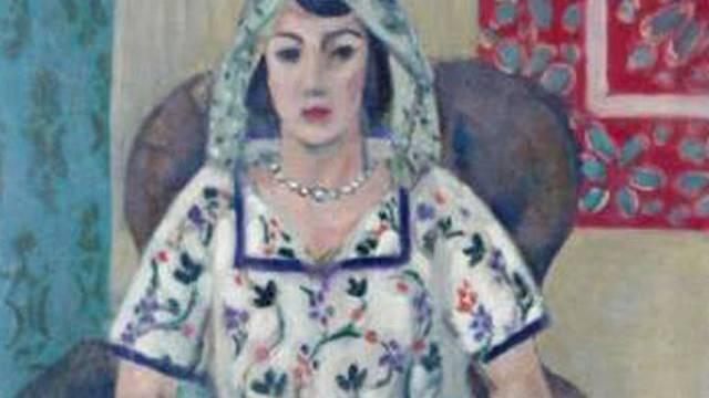 """Ausschnitt ders Matisse-Bildes """"Sitzende Frau"""""""