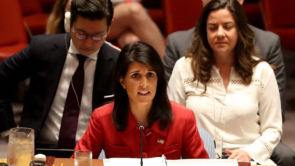 Plädiert für schärfere Sanktionen gegen Nordkorea: Die US-Botschafterin bei den Vereinten Nationen, Nikki Haley.