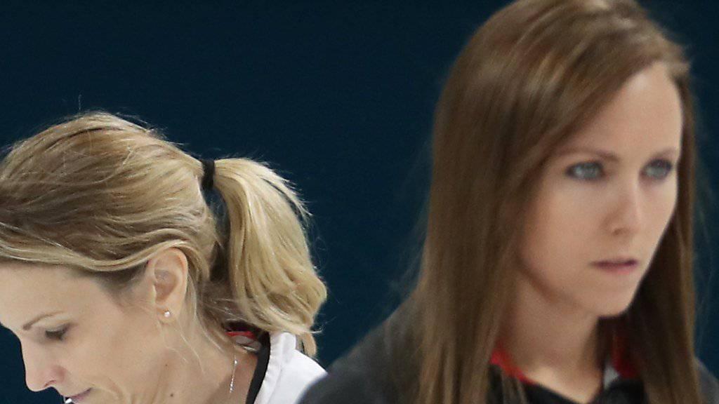 Am Canadian Open im Final: die Skips Silvana Tirinzoni (links) und Rachel Homan