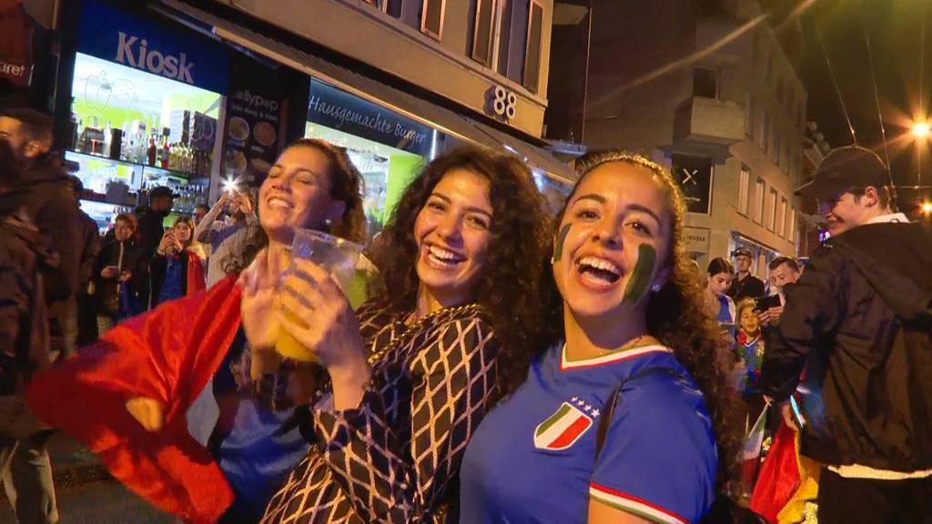 Nach Finaleinzug: So wild feierten die Italien-Fans an der Langstrasse