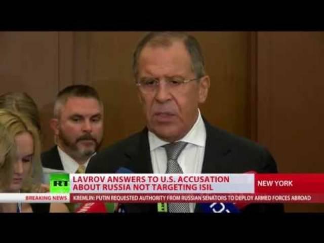 «Lavrov bestreitet Vorwürfe, dass Russland nicht IS-Stellungen bekämpft»: Bericht des staatlichen TV-Senders «Russia Today».
