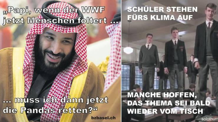 Zwei Memes von CH Media – weitere folgen in der Galerie.