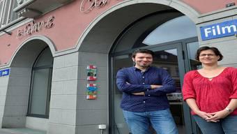 Startklar für die neue Odeon-Saison: Stephan Filati (Leiter Cinema) und Gabi Umbricht (Leiterin Bühne).