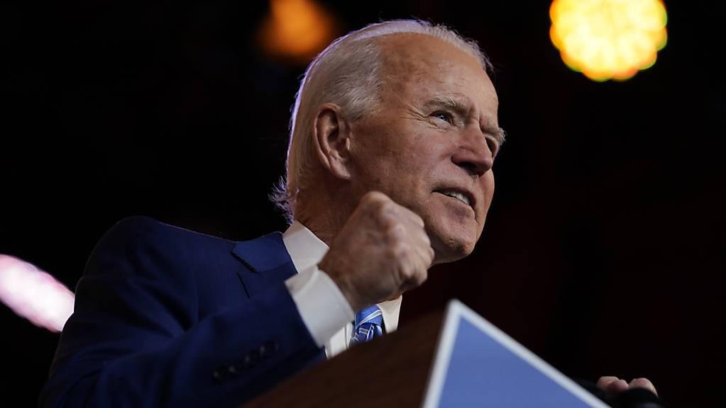 Joe Biden, gewählter Präsident der USA, spricht im Queen Theatre.