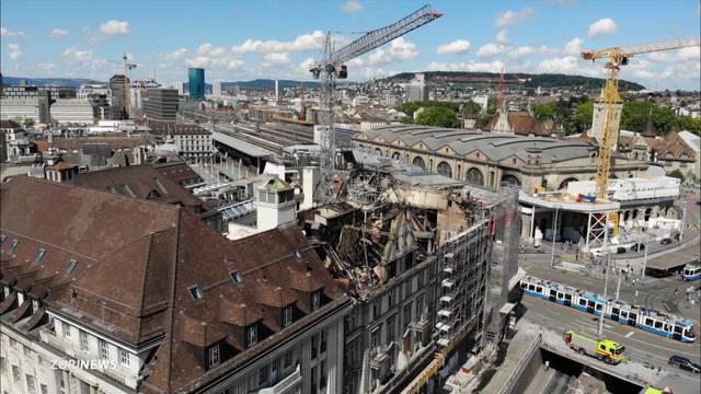 Grossbrand beim Hauptbahnhof Zürich: Wie weiter?