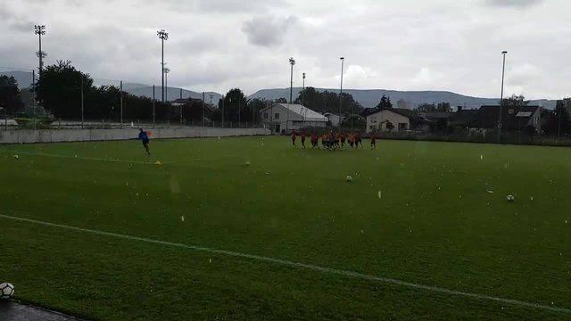 Trainingsstart beim FC Aarau: Am Schluss kam der Regen