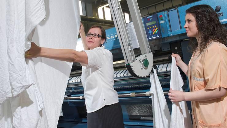 Die Waschmaschinen der Wäscherei am KSB sind total veraltet. zvg