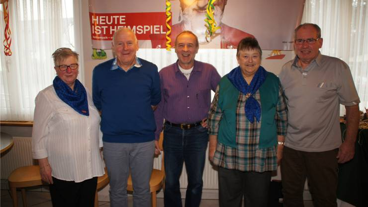 v.l. Dora Hammer, Trimbach (Präsidentin); Rolf Jezler, Grenchen (Vizepräsident); Marcel Fasnacht, Zuchwil (Kassier/Register/PPK); Madeleine Weber, Derendingen (Sekretärin); Roland Walker, Grenchen (Beisitzer).