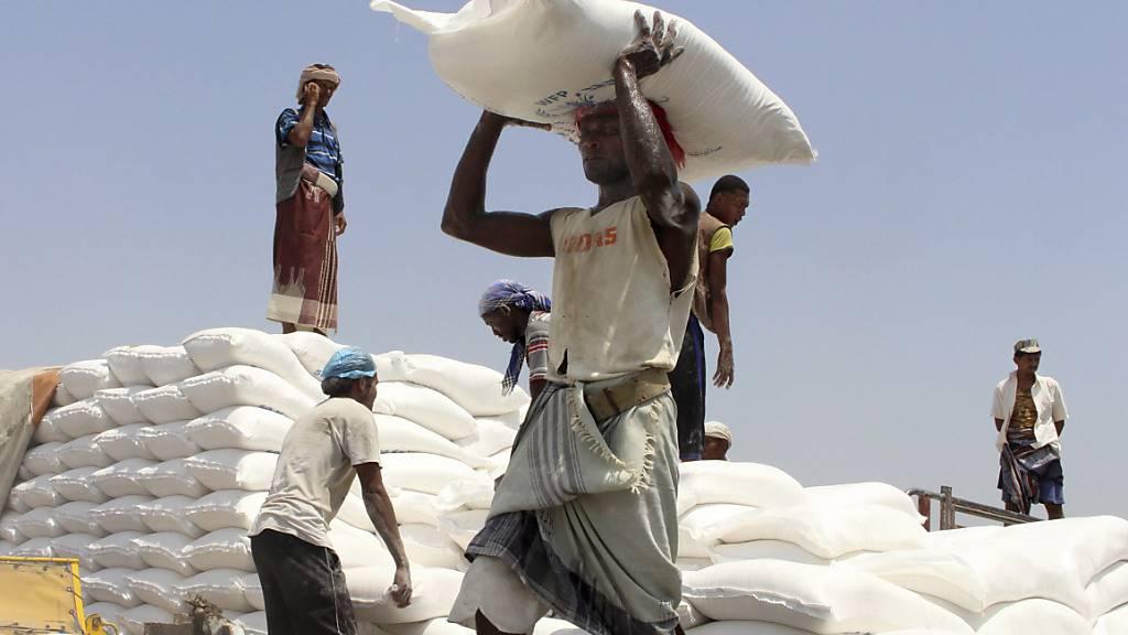 20 Millionen Menschen im Jemen sind auf Lebensmittelhilfe von Organisationen wie dem Welternährungsprogramm angewiesen. (Archivbild)