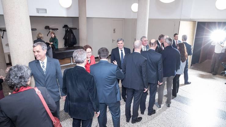 550 geladene Gäste nahmen gestern am Neujahrsempfang des Regierungsrates Basel-Stadt im Volkshaus Basel teil.
