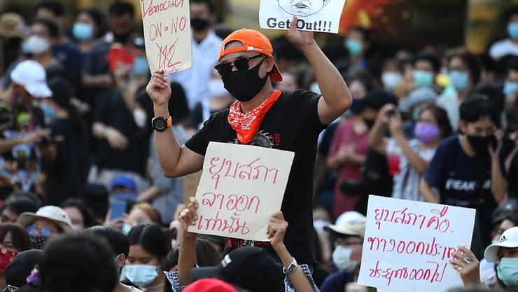 In Thailand fordern Demokratie-Aktivisten eine neue Verfassung und Neuwahlen.