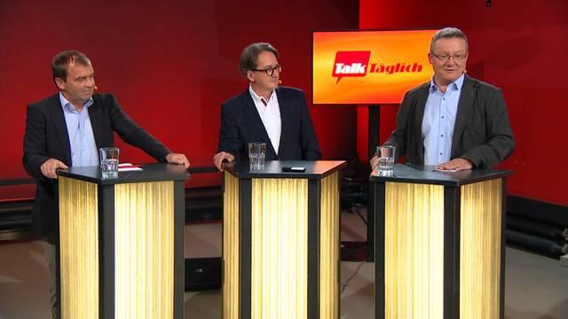 Ja oder Nein? Die Stadtratskandidaten Jürg Caflisch, Erich Obrist und MarioDelvecchio (v.l.) zu Stadtratspräsidium, Road-Pricing und Stadtcasino.