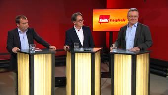 Ja oder Nein? Die Stadtratskandidaten Jürg Caflisch, Erich Obrist und MarioDelvecchio (v.l.) zu Stadtammann, Road-Pricing oder Stadtcasino.