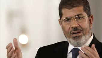 Der ägyptische Präsident Mohammed Mursi (Archiv)