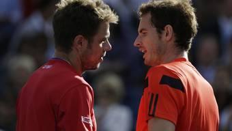 Kommt es zu einem Schweizer Halbfinal? Wenn Wawrinka (links) Murray besiegt, steht ein Schweizer im Final in London.