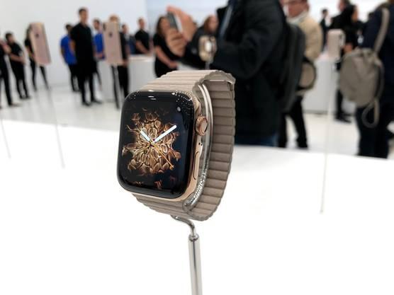 Der Star des Abend war aber die neue Apple Watch 4.