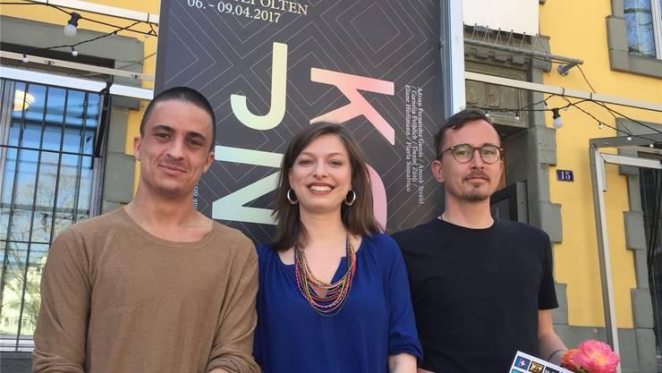 Die Förderpreisgewinner (v. l.): Gregor Vogel, Cornelia Fröhlich und Tony Weiss.