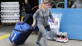 Lara Gut unterwegs in die neue Saison.