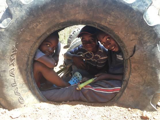 Sambische Schüler.