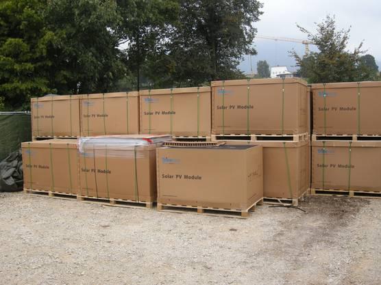 In diesen Kisten warten die einzelnen Module