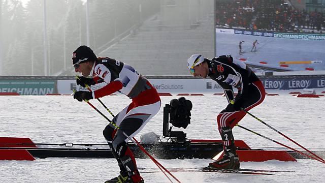 Mario Stecher (Ö) setzt sich erneut gegen Tino Edelmann (De) durch.