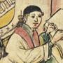 Der Gelehrte Winand Ort von Steeg (1371 bis 1454) in seiner Studierstube. Wer unter den Gelehrten des Mittelalters wen kannte, zeigt eine neue Online-Datenbank.
