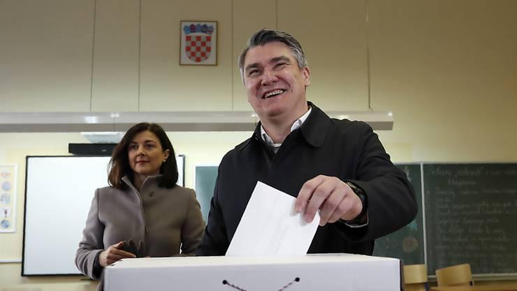 Der Sozialdemokrat Zoran Milanovic hat die Präsidentenwahl in Kroatien gewonnen.