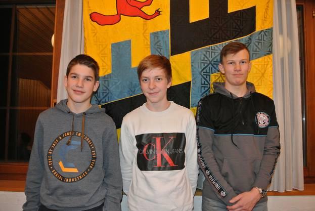 v.l.n.r. Sirio Stäuble, Samuel Hof, David Hauswirth