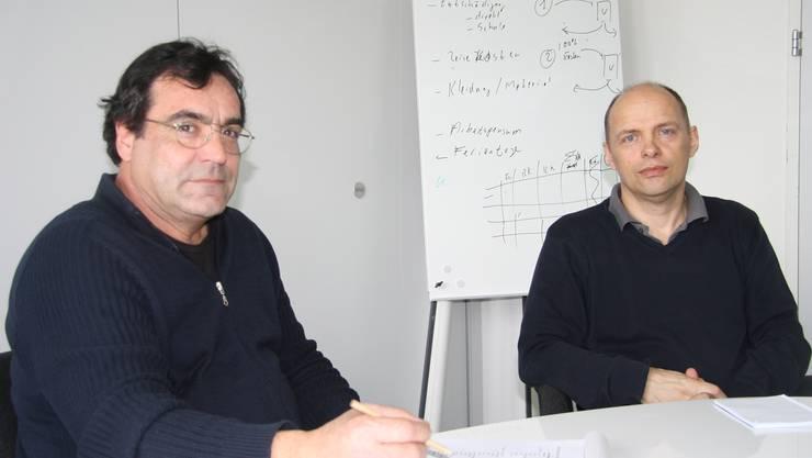 Auch Marcel Candel und Henrik Tange, Schulleiter der Mittelschulen Regio Südfuss (roj), werden im Sommer in die Steiner-Schule zügeln.