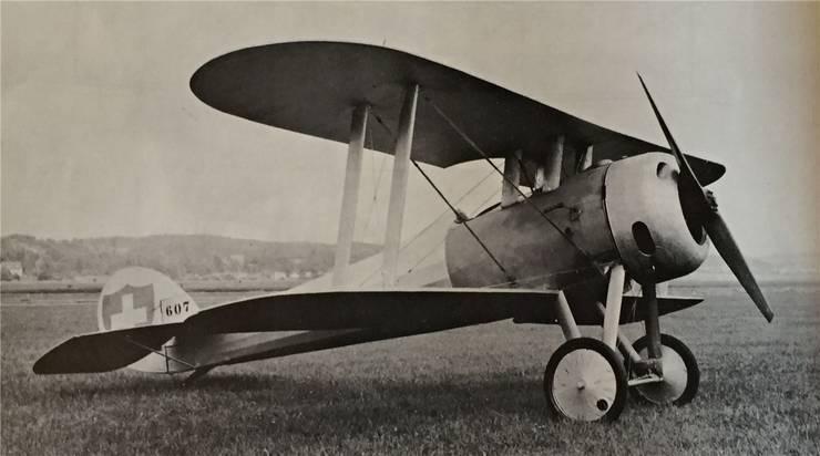 Die Nieuport N28 von James Ashenden – bereits in schweizerischen Farben.