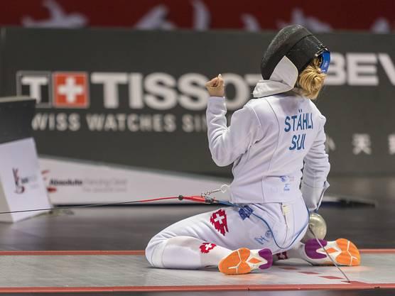 Laura Stähli holt sich die Ehrung zur Basler Sportlerin des Jahres, weil sie an der Degen-WM in China alle Erwartungen übertraf und Bronze gewann.