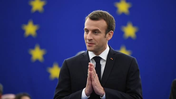 Der französische Präsident Emmanuel Macron hat am Dienstag im EU-Parlament in Strassburg über seine Vorstellungen von der EU gesprochen.