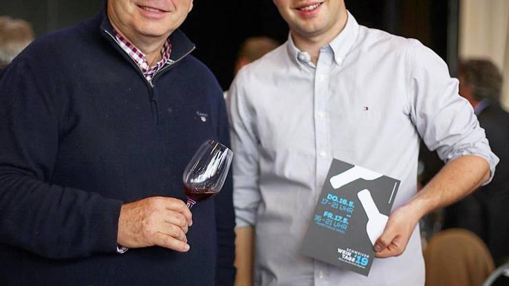 Urs und Adrian Jauslin (v.l.): Die Crus des Muttenzer Weinguts Jauslin wurden dieses Jahr neu in die Schatzkammer des Schweizer Weins aufgenommen – diese Ehre kommt den besten Schweizer Winzern zuteil.