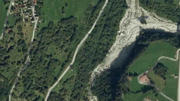 Der Fluss Brenno unterhalb von Largario, wo das Unglück passiert