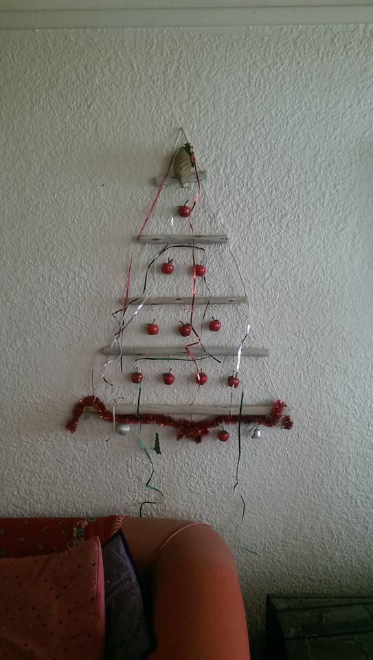 Melissa feiert in Kapstadt, so sieht ihr Christbaum aus.