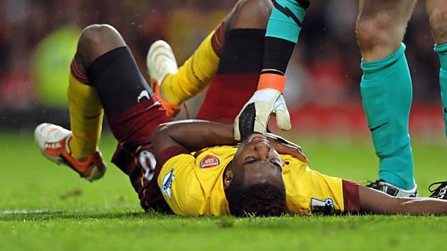 Johan Djourou verletzte sich an der Schulter