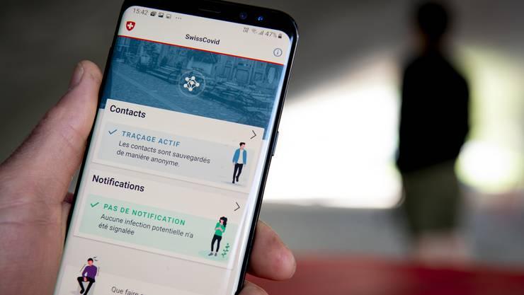 Die Nutzerzahlen der SwissCovid-App bewegen sich seit geraumer Zeit bei rund 1,6 Millionen aktiver Apps pro Tag.