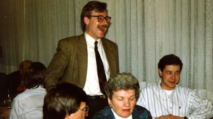 Markus Notter, der Jubelnde, mit 29 Jahren wurde er 1990 Stadtpräsident von Dietikon