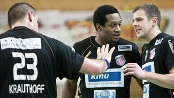 Pfadi-Spieler Markus Krauthoff, Mike Kipili und Marco Kurth (v.l.)