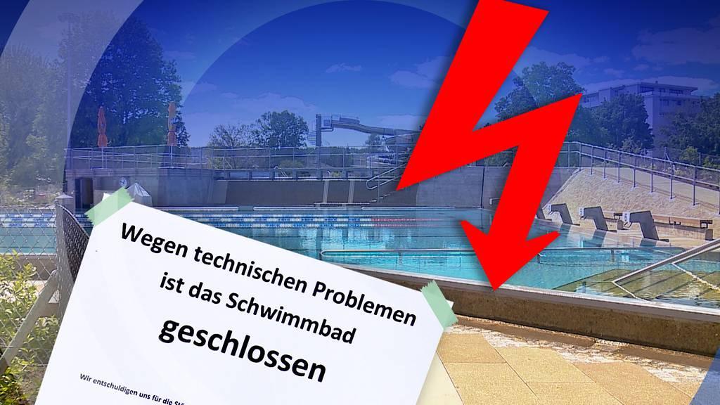 Stromschlag-Gefahr in der Badi Wohlen