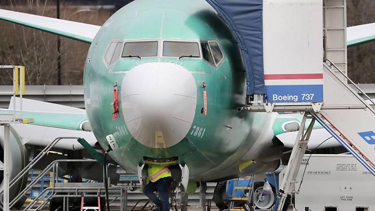 Boeing rechnet mit 737-Max-Flugverbot bis in den Sommer. (Archiv)