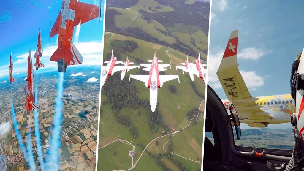 Das ist die Aussicht aus einem Patrouille-Suisse-Cockpit