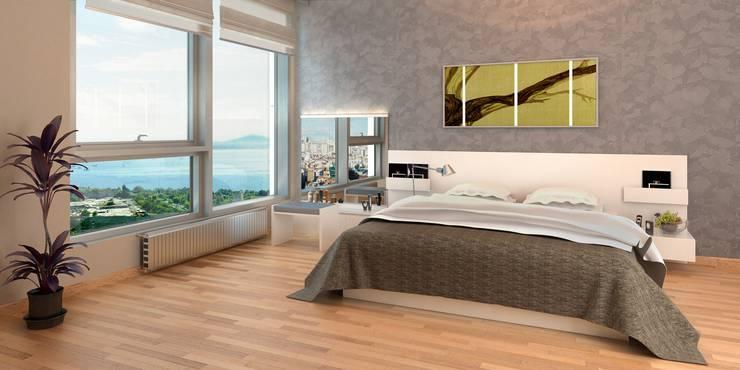 So in etwa wird eines der Schlafzimmer aussehen.