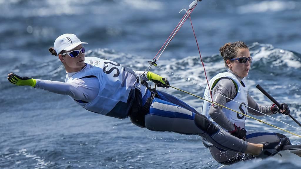 Am Montag stehen nochmals zwei Regatten auf dem Programm - anschliessend folgt das Medal Race der besten acht Boote