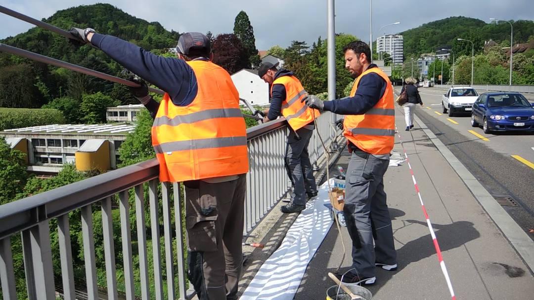Suizidprävention: Die Stadt Baden will mit dem Anbau auf der Hochbrücke Leben retten.