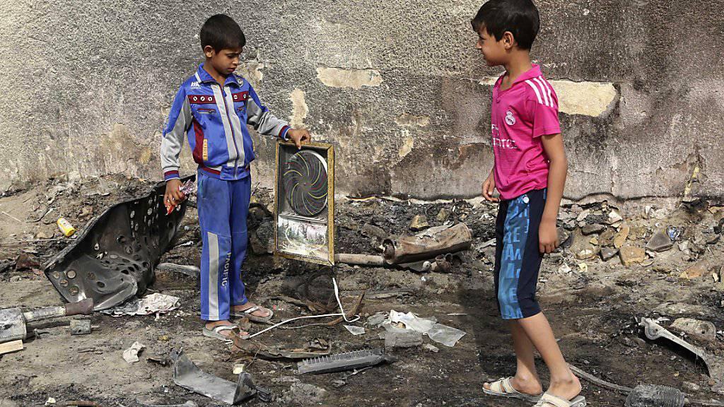 """Trotz eines Rückgangs der Gewalt im Irak ist die Dschihadistenmiliz """"Islamischer Staat"""" (IS) weiterhin in der Lage, Anschläge zu verüben. (Archivbild)"""